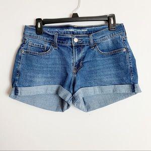 Old Navy Boyfriend Cutoff Cuffed Jean Shorts 4